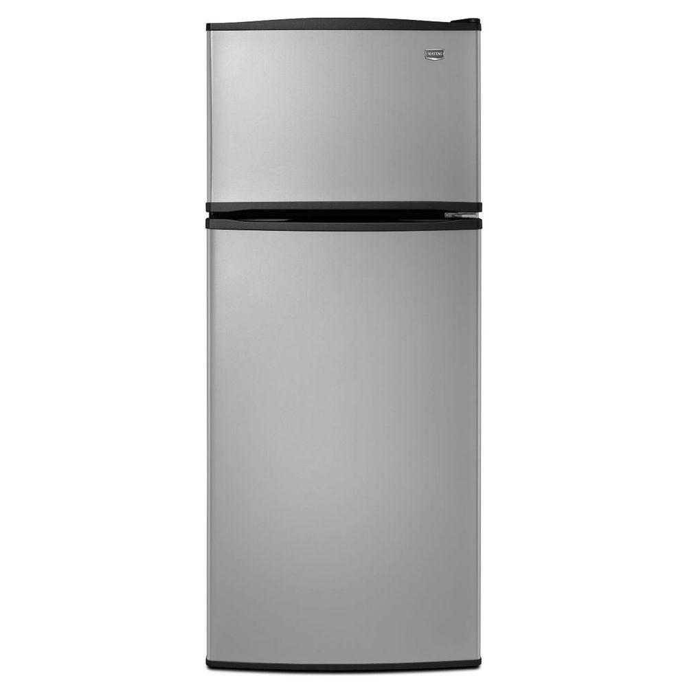 Maytag 17.5 cu. ft. Top Freezer Refrigerator in Stainless Steel