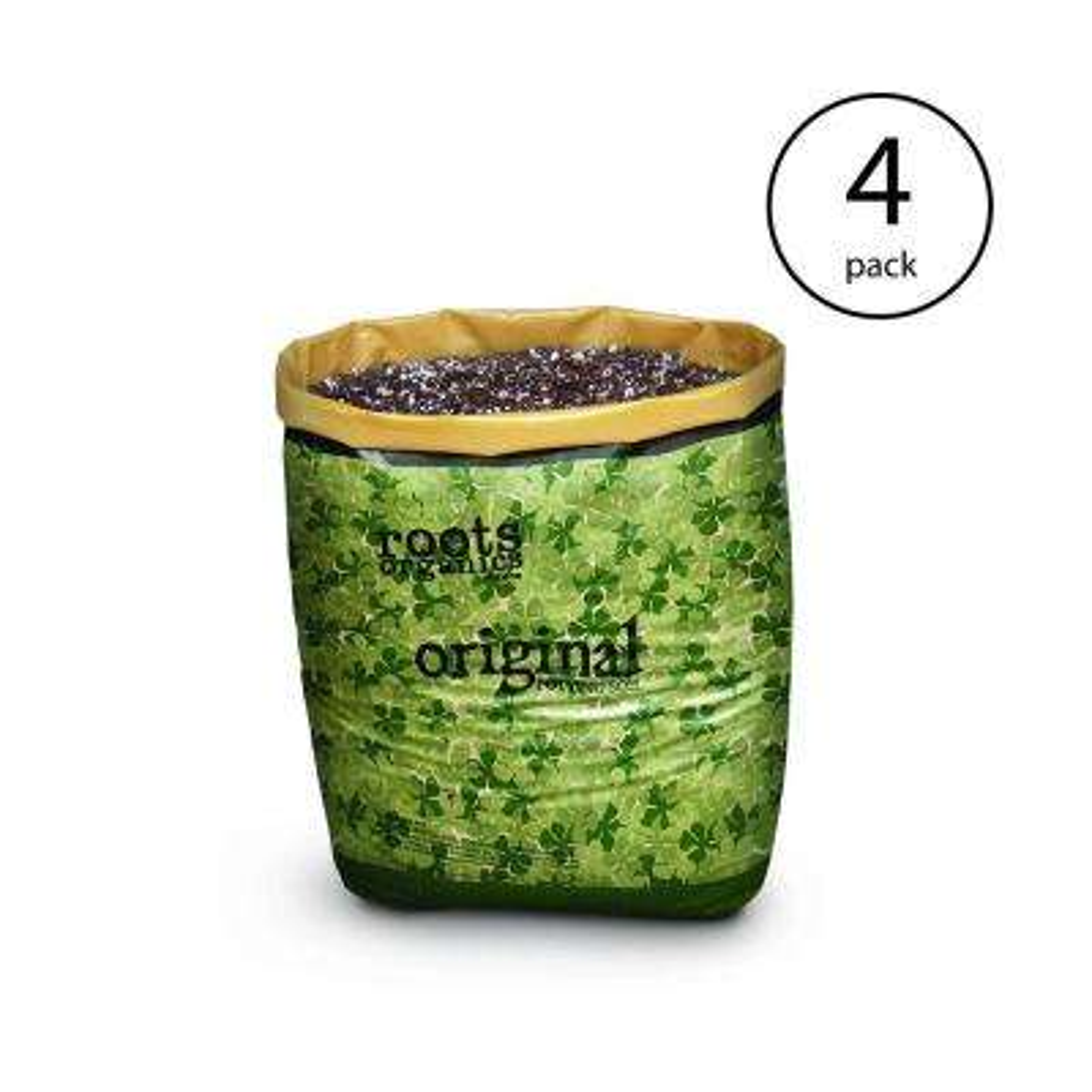 Roots Organics ROD Hydroponic Gardening Coco Fiber-Based Potting Soil (4-Pack)