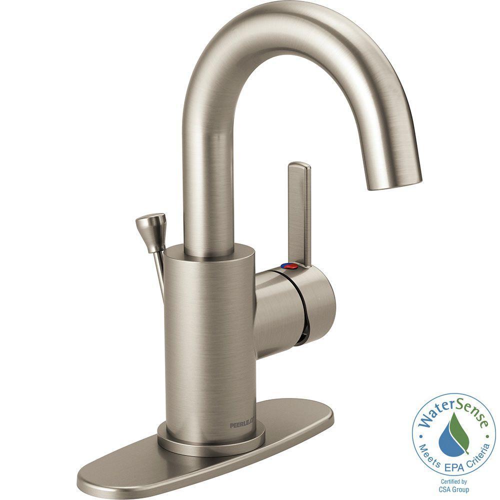 Apex 4 in. Centerset Single-Handle Bathroom Faucet in Brushed Nickel