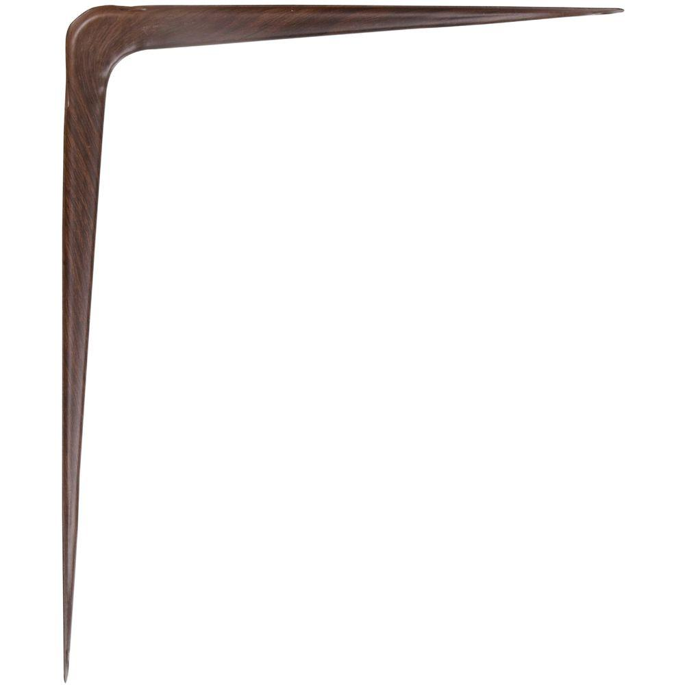 The Hillman Group 6 in. x 8 in. Fruitwood Shelf Bracket (20-Pack)
