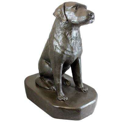 30 in. Bronze Color Sitting Labrador Lawn and Garden Statue