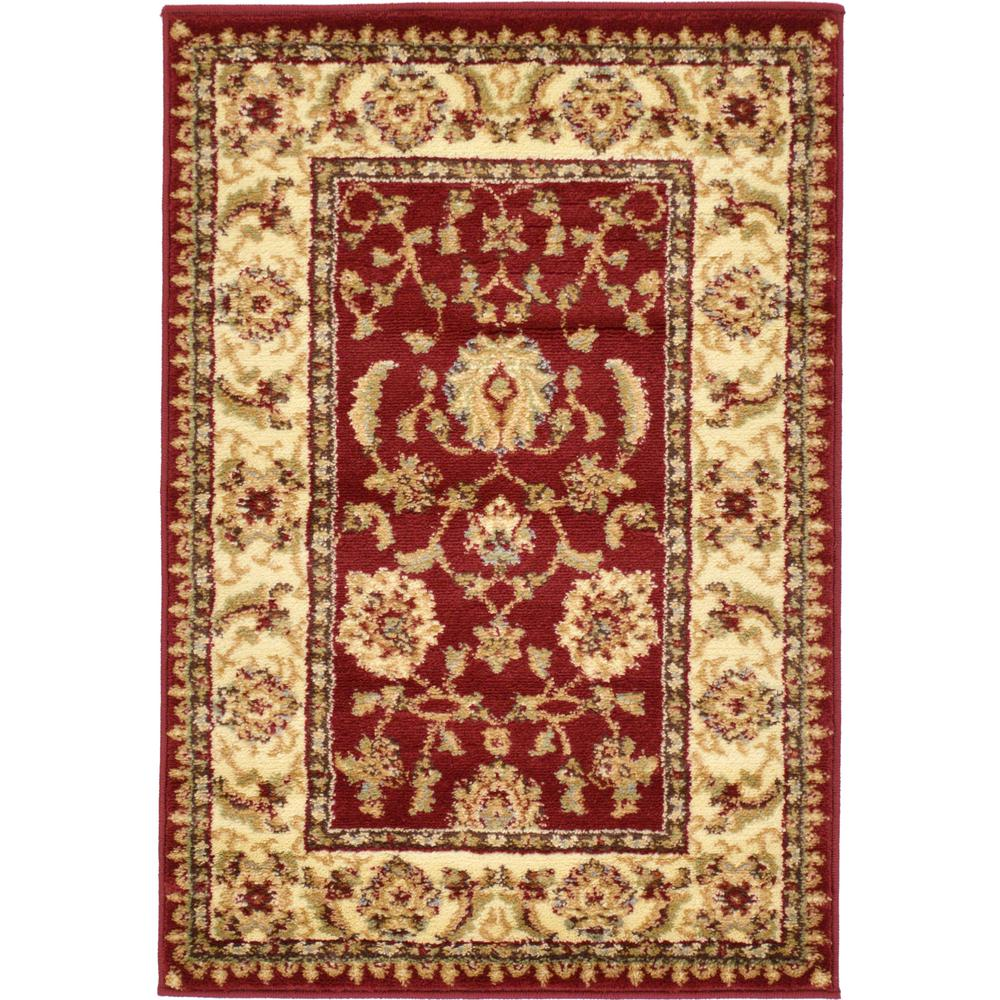 Unique Loom Voyage St. Louis Red 2' 2 x 3' 0 Area Rug