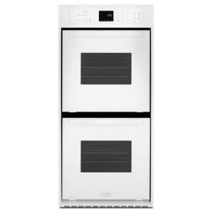 double electric wall oven in white - Electric Wall Oven