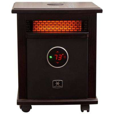 Logan Deluxe Bluetooth 1,500-Watt Infrared Quartz Portable Heater with Built-In Thermostat and Over Heat Sensor