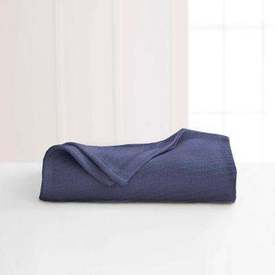 Cotton Blue Indigo Cotton Twin Blanket