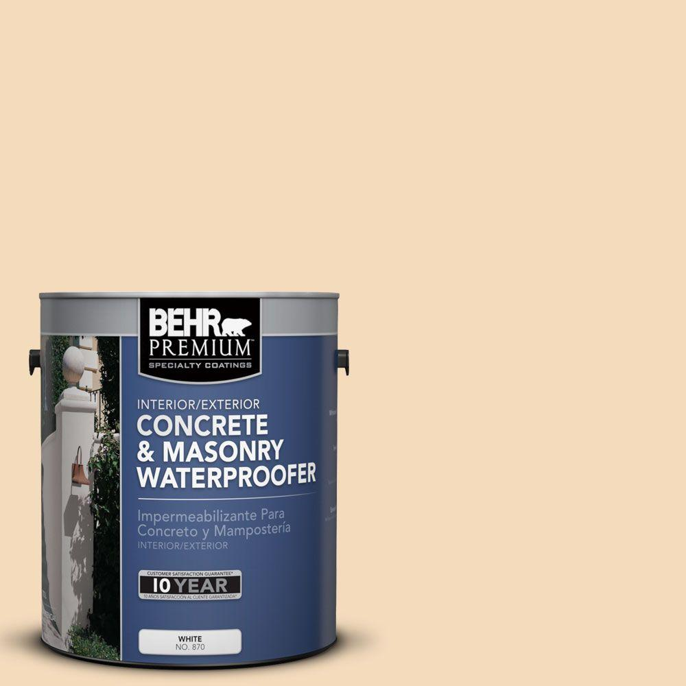 BEHR Premium 1 gal. #BW-20 Barely Peach Concrete and Masonry Waterproofer