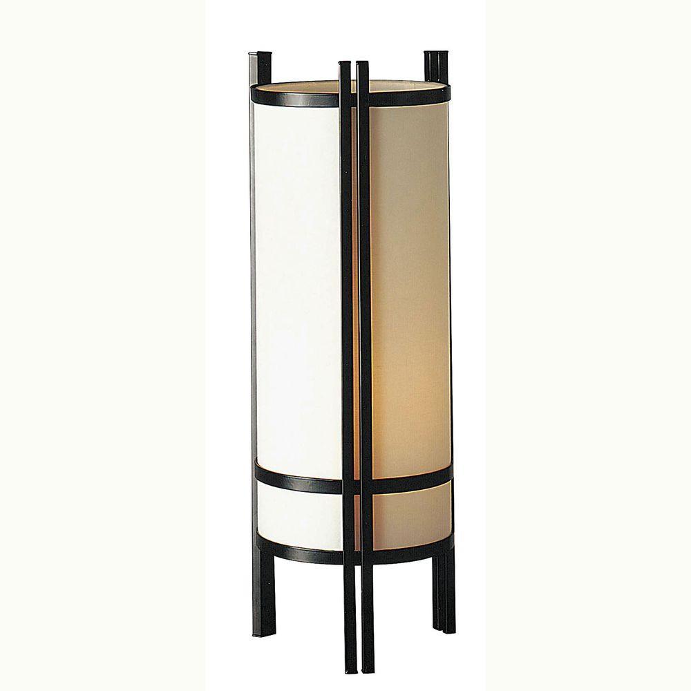 Home Door 24 in. Black Table Lamp