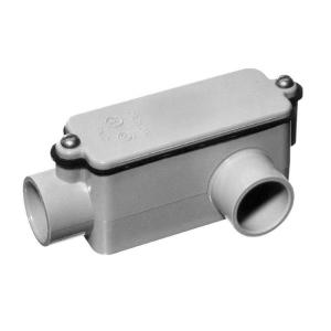 1-1/2 in. Schedule 40 and 80 PVC Type-LL Conduit Body (Case of 5)