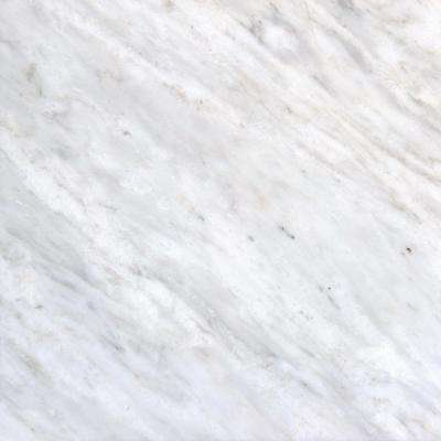 Attirant Greecian White 12 In. X 12 In. Polished Marble Floor And Wall Tile (