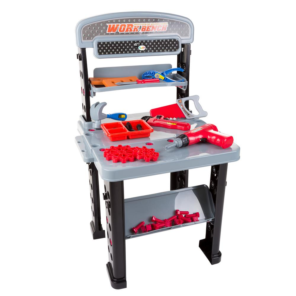 pretend play tool set and workbench m330015 the home depot. Black Bedroom Furniture Sets. Home Design Ideas