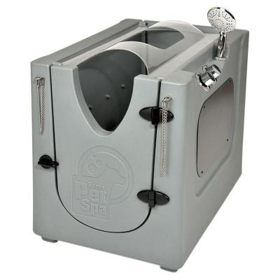 35 in. x 24.7 in. Pet Shower and Grooming Enclosure with Splash Guard and Wheels