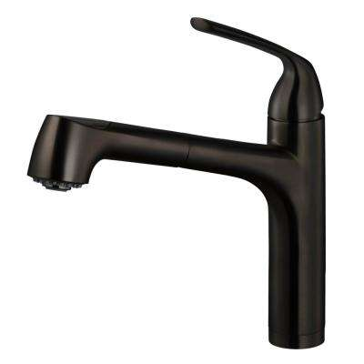Calia Single-Handle Pull Out Sprayer Kitchen Faucet with CeraDox Technology in Oil Rubbed Bronze