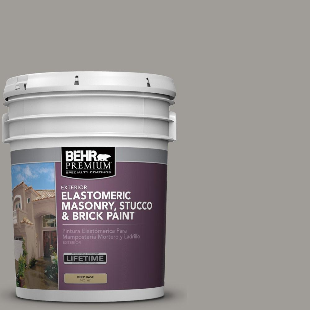 5 gal. #BNC-17 Casual Gray Elastomeric Masonry, Stucco and Brick Paint