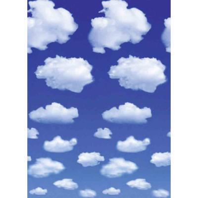 100 in. x 72 in. White Clouds Wall Mural