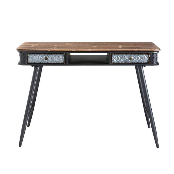 4D Concepts Forester Brown Rustic Wood and Metal Collection Desk 184023