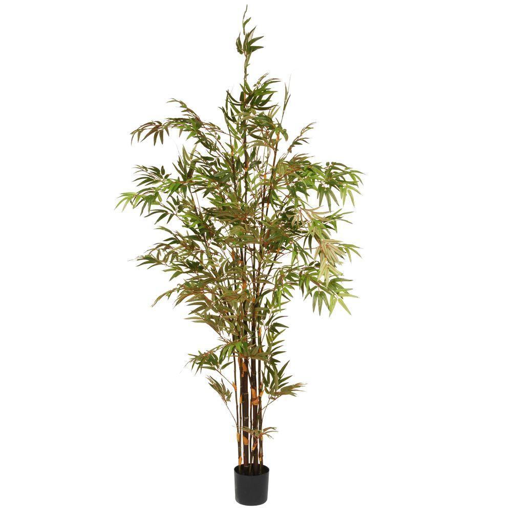 National Tree Company 6 7 ft  Black Japanese Potted Bamboo Tree