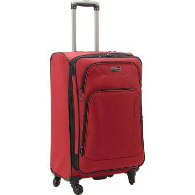 Wicker Park Collection Lightweight Durable Softside 600D Polyester 4-Wheel Expandable 24 in. Checked Luggage
