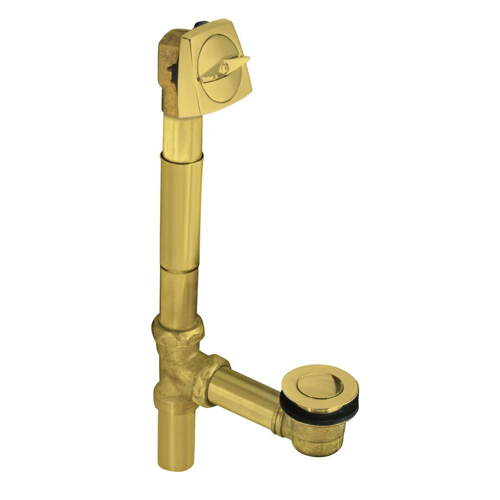 Clearflo 1-1/2 in. Adjustable Pop-Up Drain in Vibrant Polished Brass