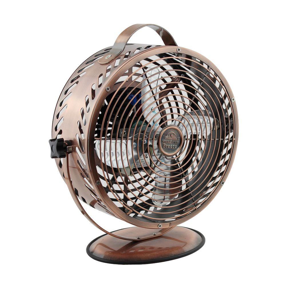 Breeze 8.6 in. Decorative Bronze Table Top Fan