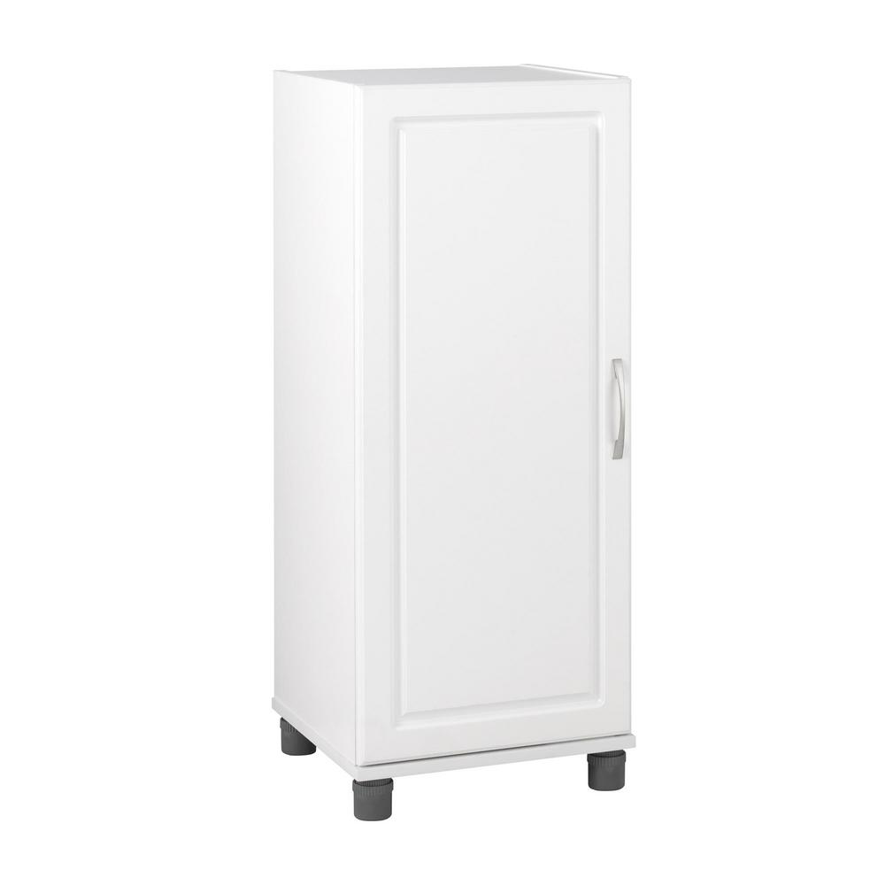 SystemBuild Trailwinds 38 in. H x 15-11/16 in. W x 15-3/8 in. D Stackable Freestanding Storage Cabinet in White