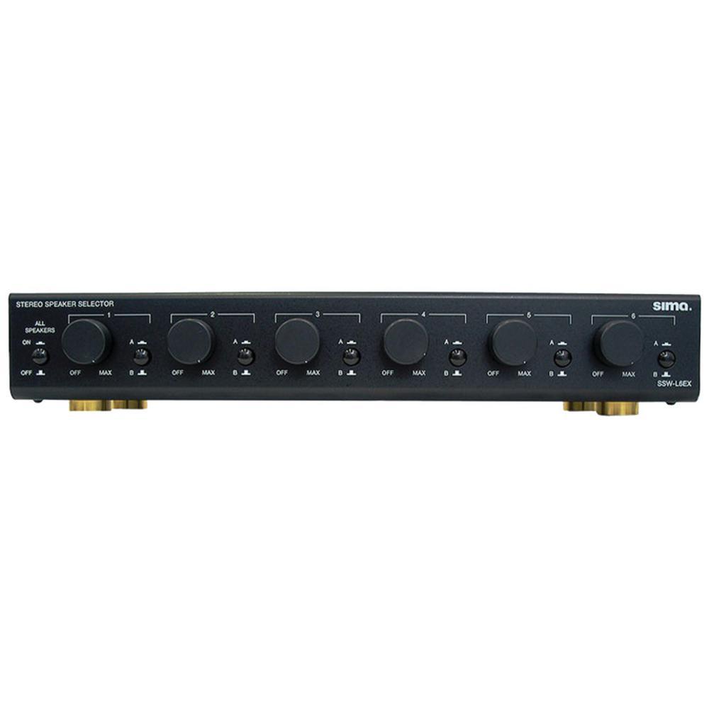Sima Speaker Selector, Black (6-Pairs)