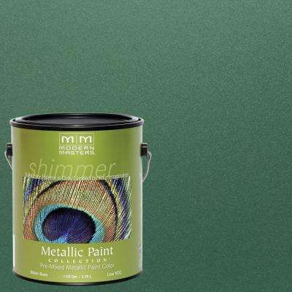 1 gal. Hunter Green Water-Based Satin Metallic Interior/Exterior Paint