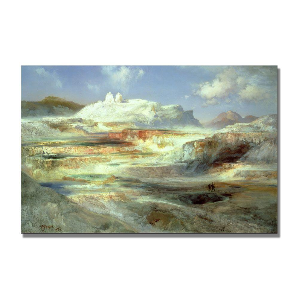 22 in. x 32 in. Jupiter Terrace, Yellowstone Canvas Art
