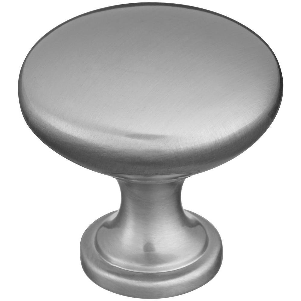 Stanley-National Hardware 1-1/3 in. Satin Nickel Light Weight Round Knob