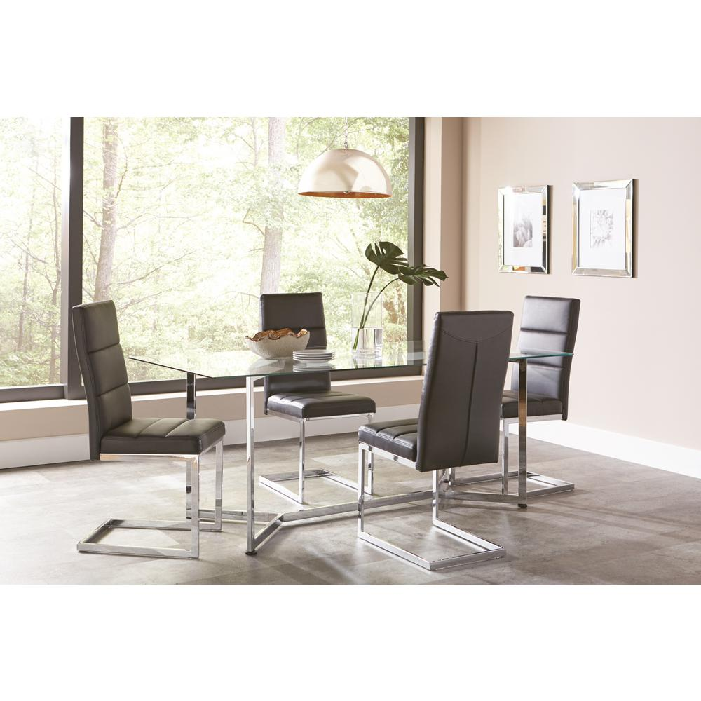 Coaster Augustin Collection Black/ Chrome Dining Chair (Set Of 2)