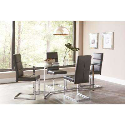 Augustin Collection Black/ Chrome Dining Chair (Set of 2)