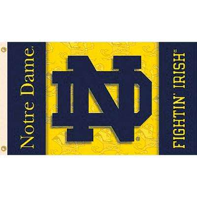 NCAA University of Notre Dame 3 ft. x 5 ft. Collegiate 2-Sided Flag with Grommets