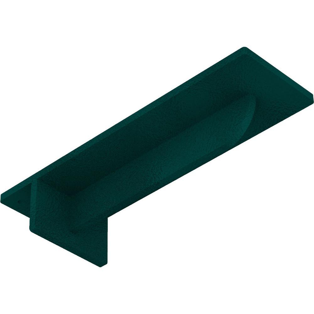3 in. x 2 in. x 10 in. Steel Hammered Deep Green Heaton Bracket