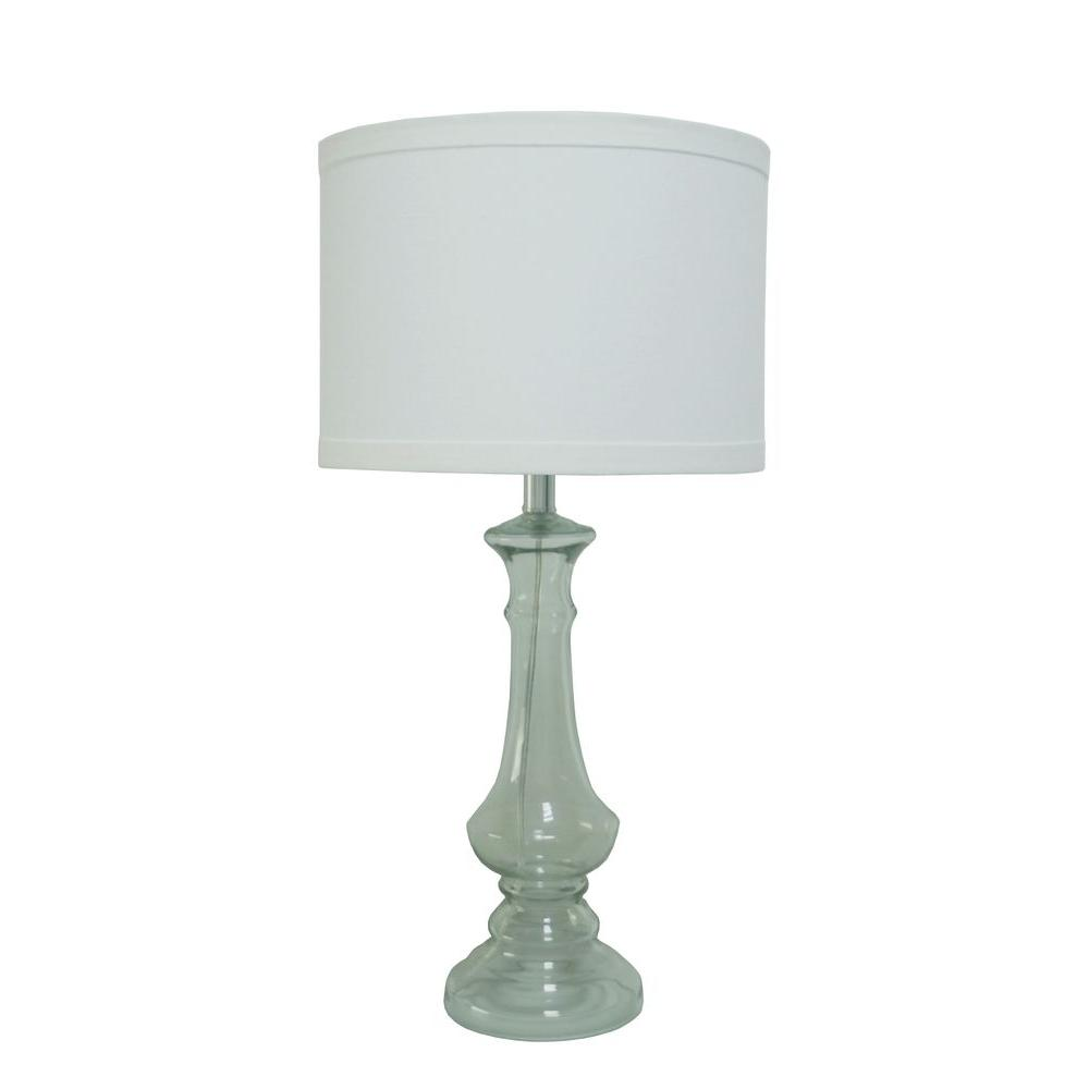Fangio Lighting 28.5 in. Chrome and Metal Glass Table Lamp-DISCONTINUED