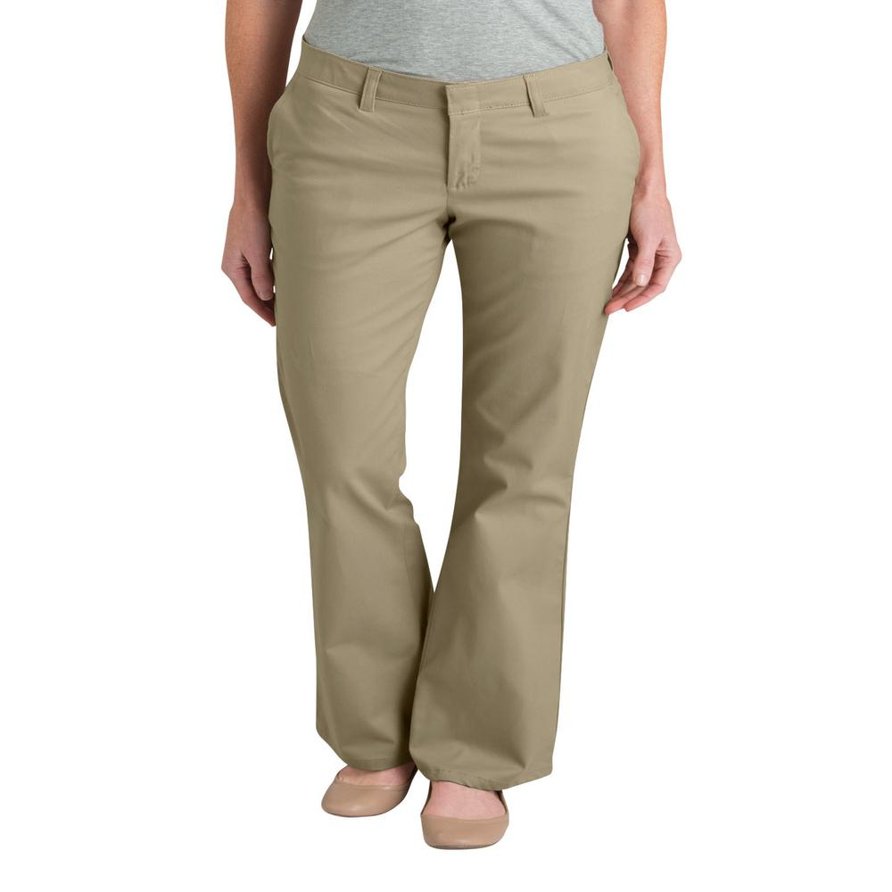 limpid in sight enjoy lowest price later Dickies WoMen's 32 in. Desert Sand Slim Fit Boot Cut Stretch Twill Pants