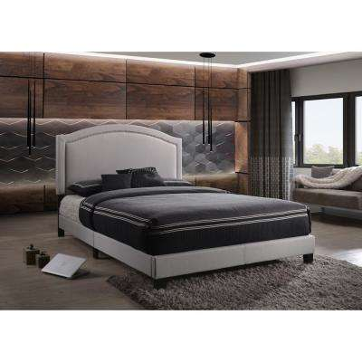Garresso Fog Fabric Queen Bed
