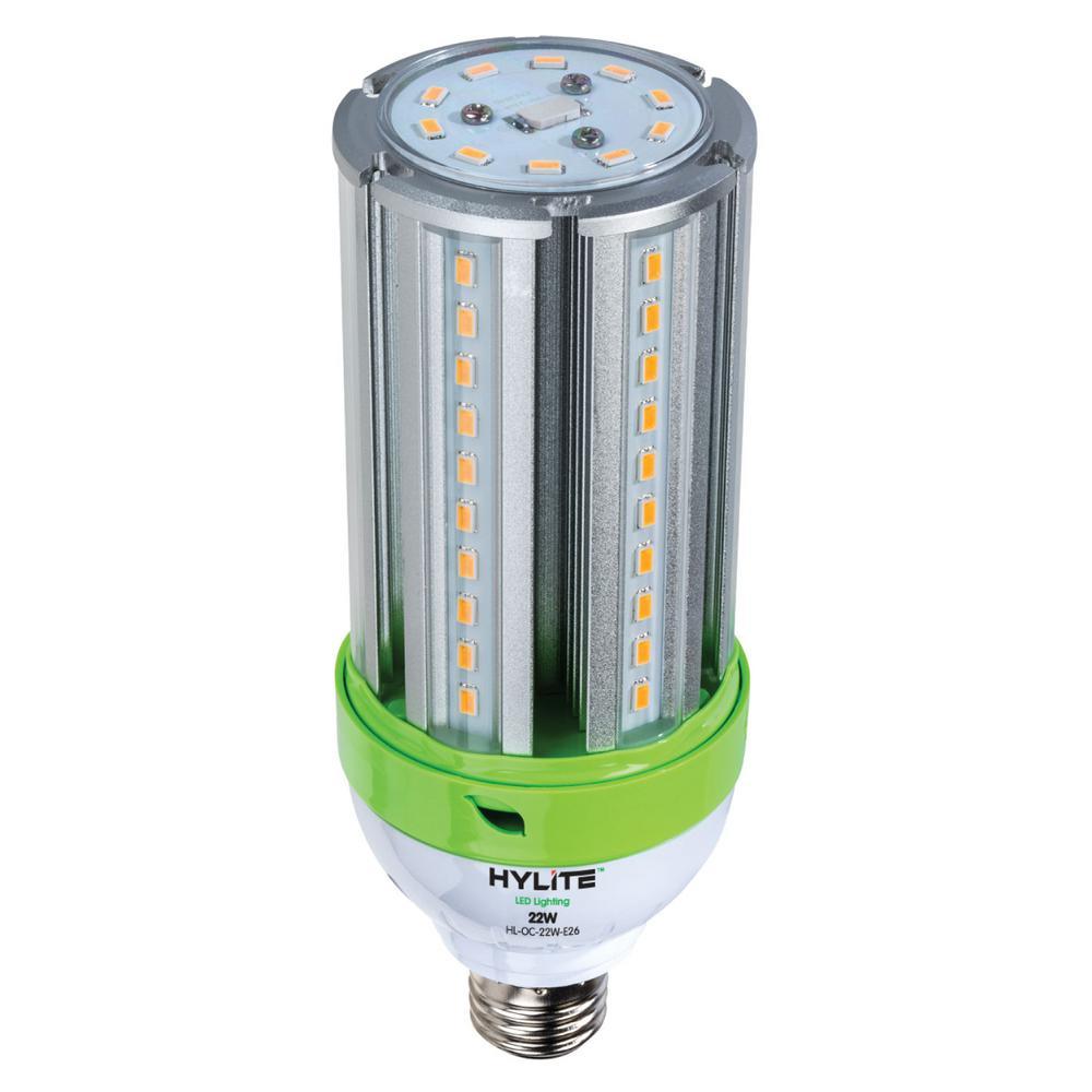 22W omni-cob LED Lamp 100W HID Equiv 5000K 3080 lumens Ballast Bypass 120-277V E26 Base IP 65 UL & CE Certified (1-Bulb)