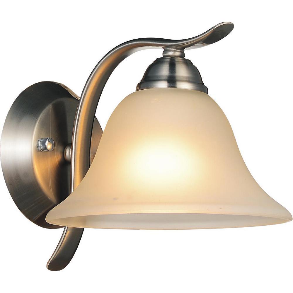 Cosmo 1-Light Satin Nickel Sconce