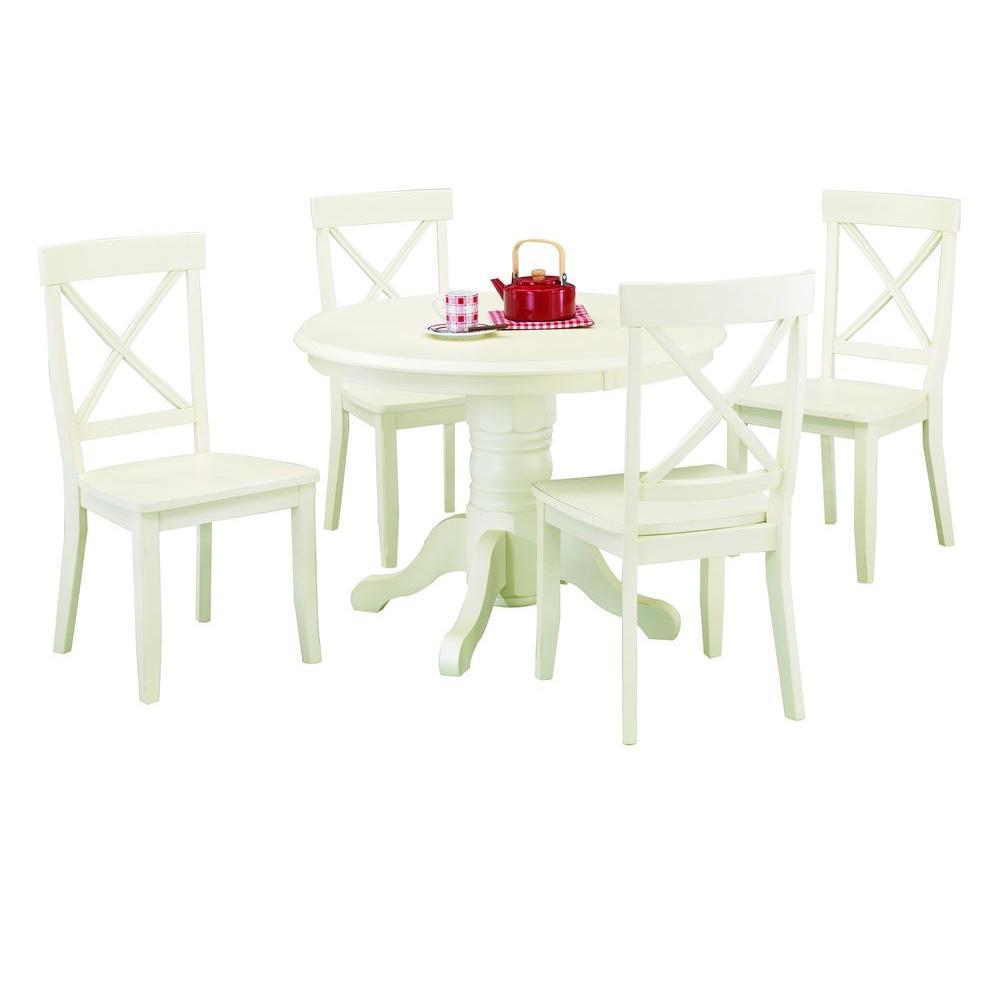 5-Piece Antique White Dining Set