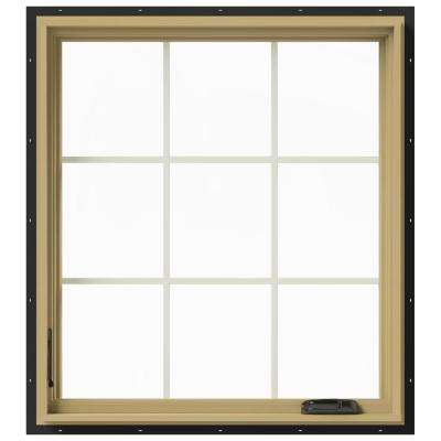 36 in. x 40 in. W-2500 Left-Hand Casement Aluminum Clad Wood Window