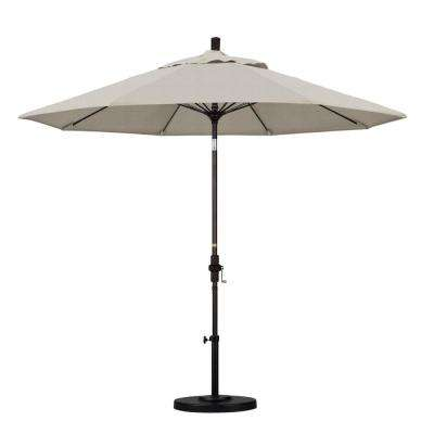 9 ft. Fiberglass Collar Tilt Patio Umbrella in Granite Olefin
