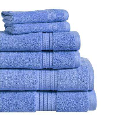 Summit 6-Piece 100% Cotton Bath Towel Set in Marina