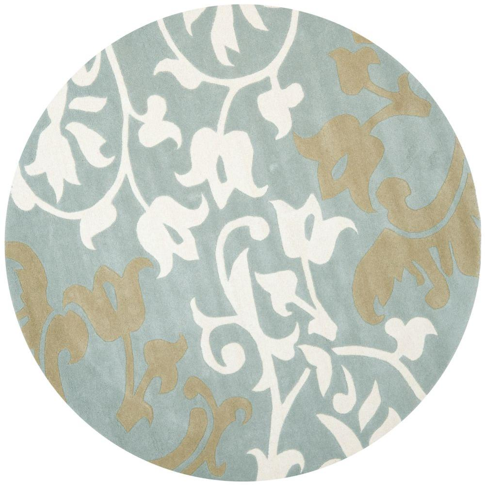 Safavieh Soho Blue Multi 6 Ft X 6 Ft Round Area Rug