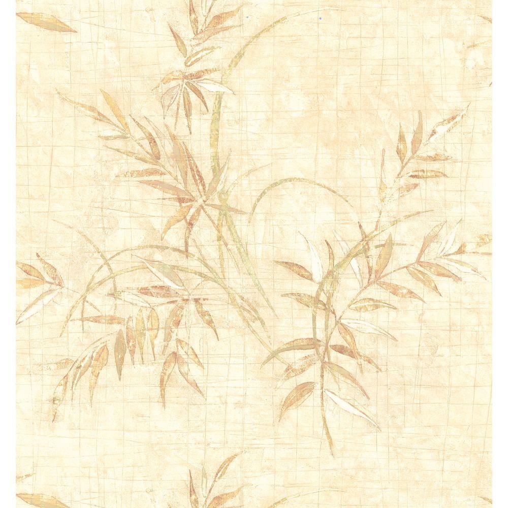 Brewster Kitchen Bath Bed Resource III Neutral Fern Wallpaper Sample