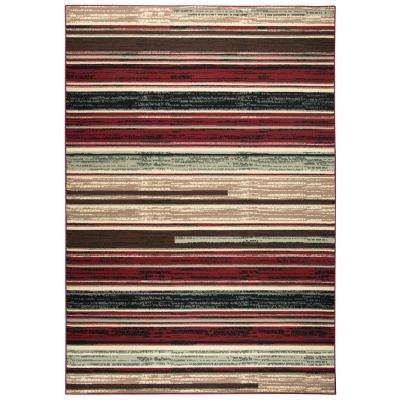Xcite Multi Striped Machine Made 5 ft. 2 in. x 7 ft. 3 in. Area Rug