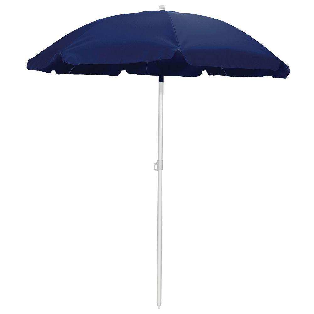 Picnic Time 5.5 ft. Beach Patio Umbrella in Navy-822-00-138-000-0 ...
