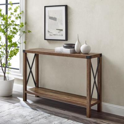 Entryway Tables Furniture The Home Depot - Solid Mahogany Wood Entry Wall Console Sofa Table