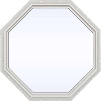 47.5 in. x 47.5 in. V-4500 Series White Vinyl Fixed Octagon Geometric Window w/ Low-E 366 Glass