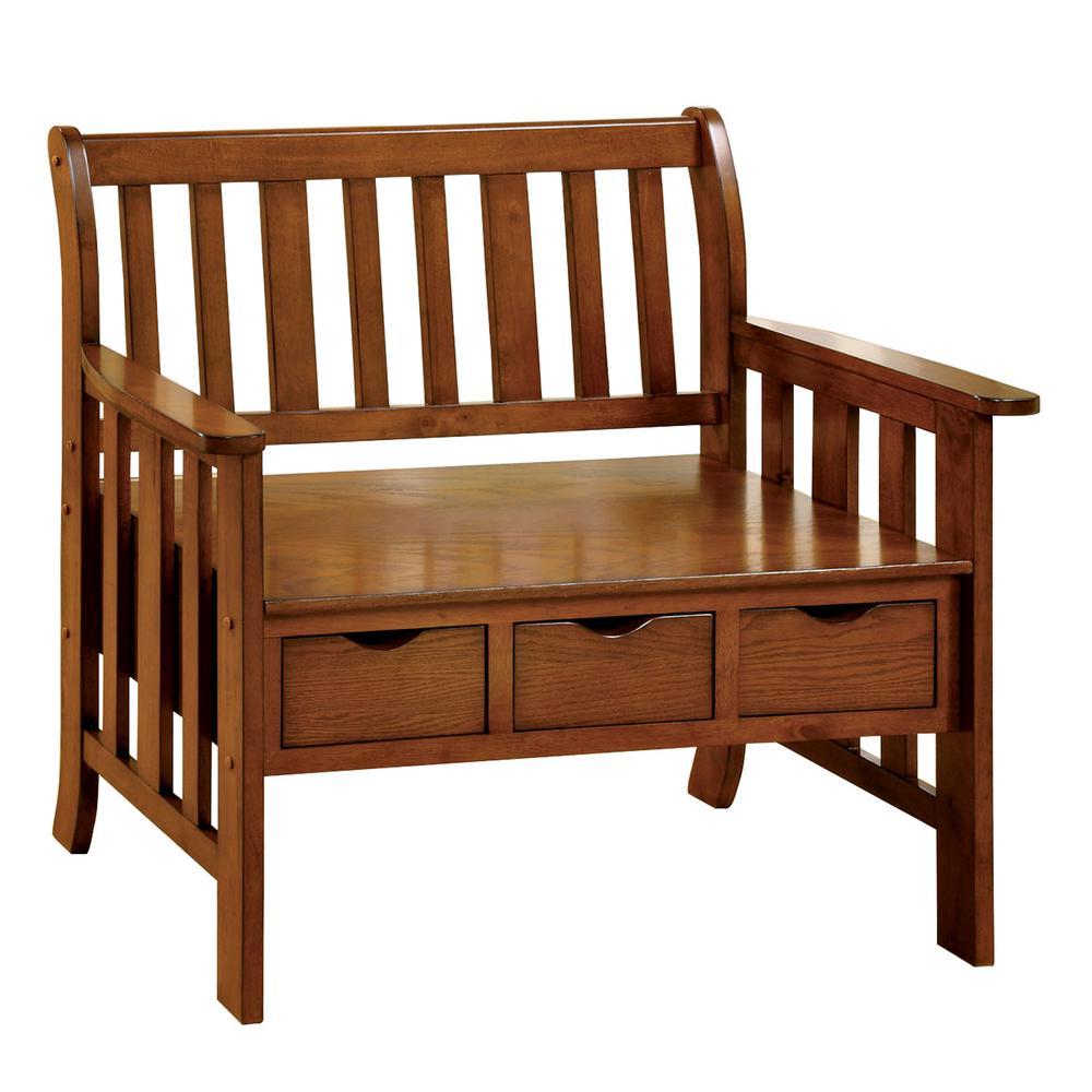 Oak Storage Bench CM-BN6300