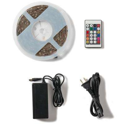 16.4 ft. Digital RGB Under Cabinet Flexible Tape Light, Power Supply and Remote Included