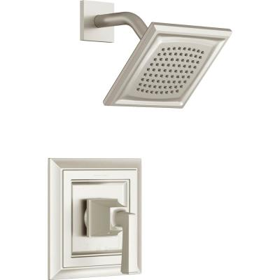 Town Square S Shower Faucet Trim Kit for Flash Rough-in Valves in Brushed Nickel (Valve Not Included)